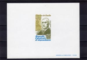 New Caledonia 1980 Sc#C168 GENERAL CHARLES De GAULLE DELUXE SOUVENIR SHEET MNH