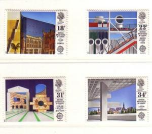 Great Britain Sc 1176-9 1987 Europa stamps mint NH