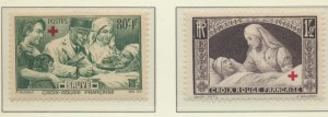 France Stamps Scott #B101 To B102, Mint Lightly Hinged