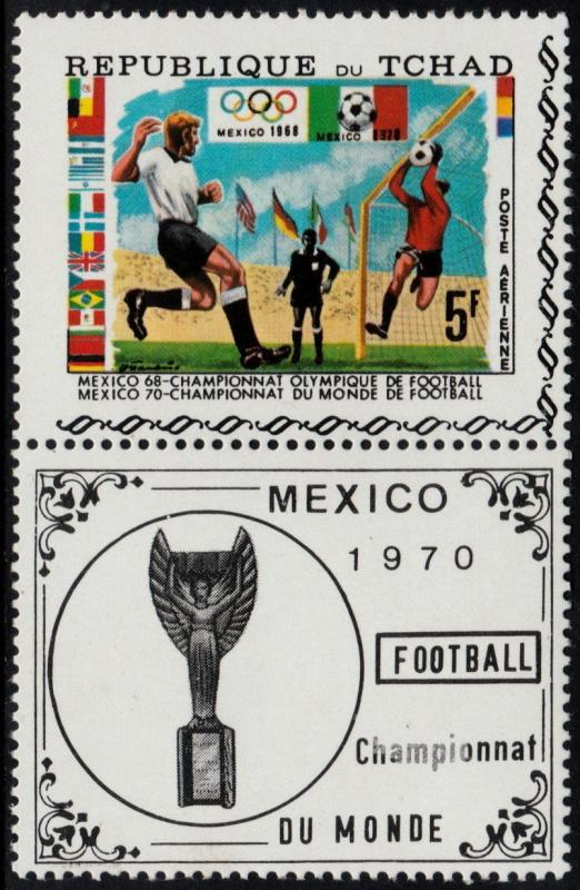 CHAD 1970 - WORLD CUP SOCCER MEXICO - MI. 307 ** MNH OG  [SP1.3]