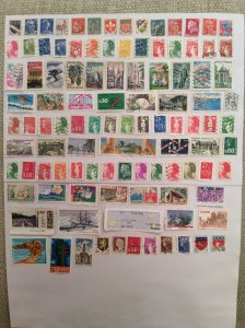 France 100+ stamps - Lot A