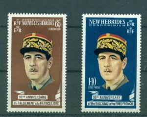French New Hebrides - Sc# 158-9. 1970 De Gaulle. MNH $4.75.
