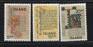 Iceland 417-19 Hinged 1970 set