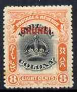 Brunei 1906 opt on Labuan 8c mounted mint SG17