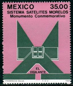MEXICO 1421 Launch of Morelos II Telecom Satellite, SINGLE MINT, NH. VF.