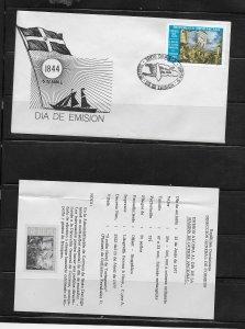 DOMINICAN REPUBLIC STAMPS,COVER MARINA DE GUERRA NACIONAL.  1977 #F37