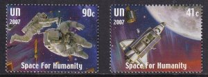 United Nations New York   #945-946   MNH  2007  space station and astronauts