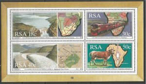 SOUTH AFRICA, 1990, MNH MS, Maps Scott 787a