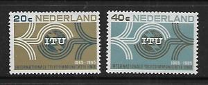 NETHERLANDS, 436-437, MNH, INTL. TELECOMMUNICATION