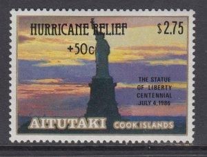 Aitutaki B49 Statue of Liberty MNH VF