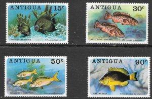 Antigua  (1976)  - Scott # 444 - 447, MNH