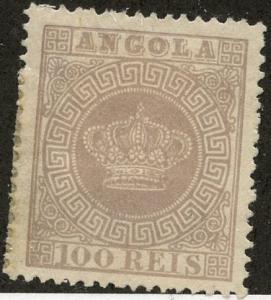 Angola, Scott #7, Unused, Hinged