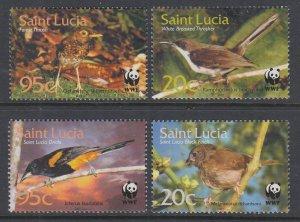 St Lucia 1132-1135 Birds MNH VF