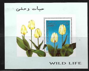 Afghanistan MNH S/S Tulips Flowers 1997