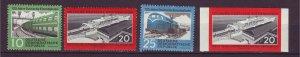 J24172 JLstamps 1960 germany DDR set mnh #529-31, 530 imperf