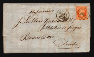 France 1855 Letter Cover / Lyon CDS - Z15695