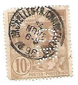 Belgium 1896 - U - Scott #80 *
