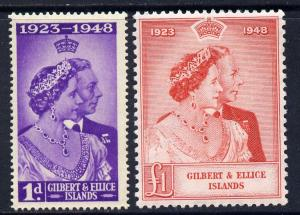 Gilbert & Ellice Islands 1949 KG6 Royal Silver Weddin...