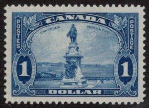 CAN SC #227 MNH 1935 $1 Champlain Monument, Quebec CV $82.50