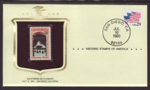 US California Stamp Cover BIN