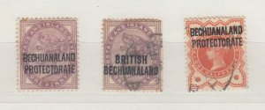 British Bechuanaland QV Set Of 3 MH/VFU J8956