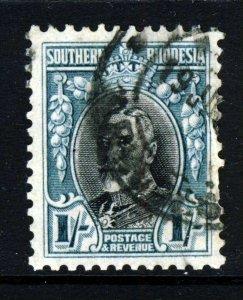 SOUTHERN RHODESIA King George V 1935 1 Shilling VARIETY Perf.11½ SG 23a VFU