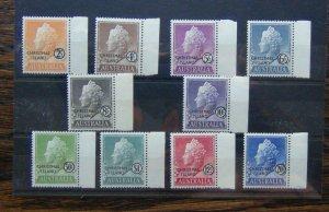 Christmas Island 1958 set to S1 SG1 - SG10 LMM