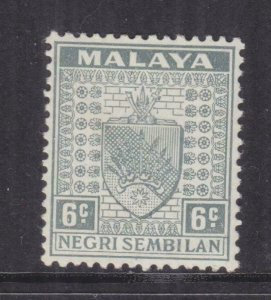 NEGRI SEMBILAN, 1941 Arms, 6c. Grey, lhm., trace of spots.