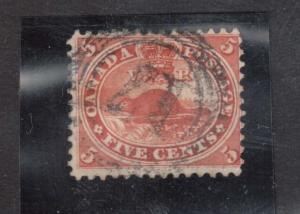 Canada #15 VF Used With Ideal 4 Ring 17 Cancel