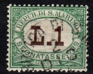 San Marino #J15 F-VF  Used CV $20.00 (SU8347)