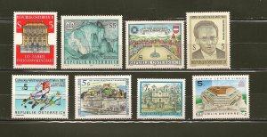 Austria Collection of 8 Different 1987 Issue Stamps MNH