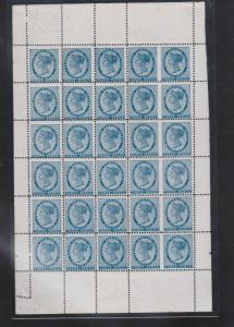 Prince Edward Island #6d Very Fine Mint Rare Sheet Of Thirty