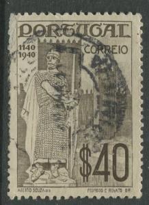 Portugal - Scott 594 - Pictorial Definitive - 1940 - FU- Single 1.75e Stamp