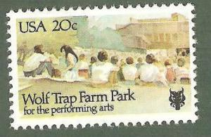 2018 Wolf Trap Farm Park US Single Postage Stamp Mint/nh FREE SHIPPING