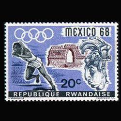 RWANDA 1968 - Scott# 250 Olympics 20c NH