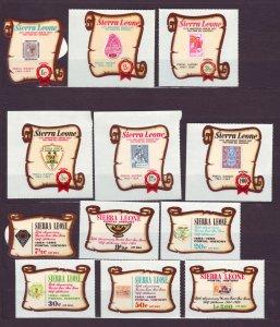 J22696 Jlstamps 1969 sierra leone set mnh #369-74,c84-9 stamps on stamps