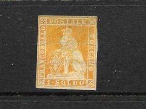 TUSCANY 1851-52  1s  ORANGE  LION  MNG     SG 5