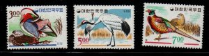 South Korea Sc 493-95 1985 Bird stamp set mint NH