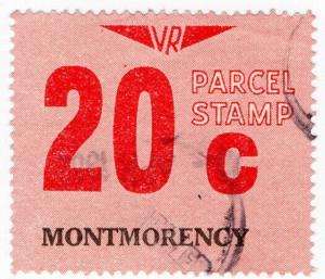(I.B) Australia - Victoria Railways : Parcel Stamp 20c (Montmorency)