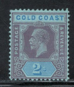 Gold Coast 1924 King George V 2sh Scott # 91 MH