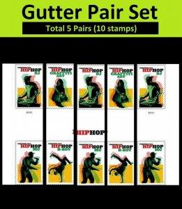 US 5480-5483 Hip Hop forever horz gutter pair set (10 stamps) MNH 2020 7/15