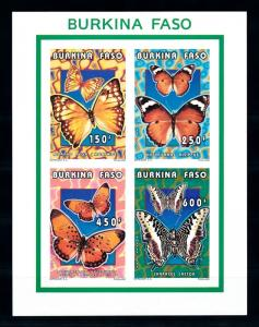 [93793] Burkina Faso 1996 Insects Butterflies Schmetterlingen Imperf. Sheet MNH