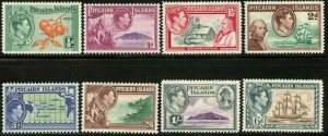 PITCAIRN IS. Sc#1-8, Less 5A & 6A 1940 KGVI First Definitives OG Mint Hinged