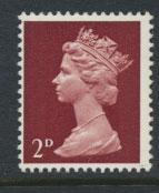 GB   Machin - Mint never Hinged  - SG 726 Type I - 2d