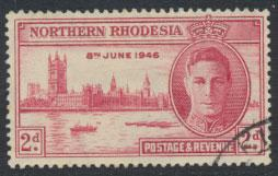 Northern Rhodesia  SG 47 SC# 47  Used / FU   see detail and scan