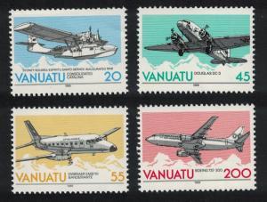 Vanuatu Aircrafts 4v D1 SG#523-526 SC#501-504