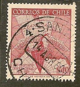 Chile  Scott  305   Map of Antarctica    Used