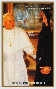 Niger 944f s/s MNH Princess Diana,Pope John Paul II