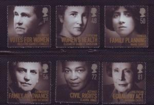 Great Britain Sc 2601-6 2008 Famous Women stamp set mint NH