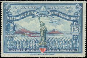 1940 Nicaragua #C253, Complete Set, Hinged